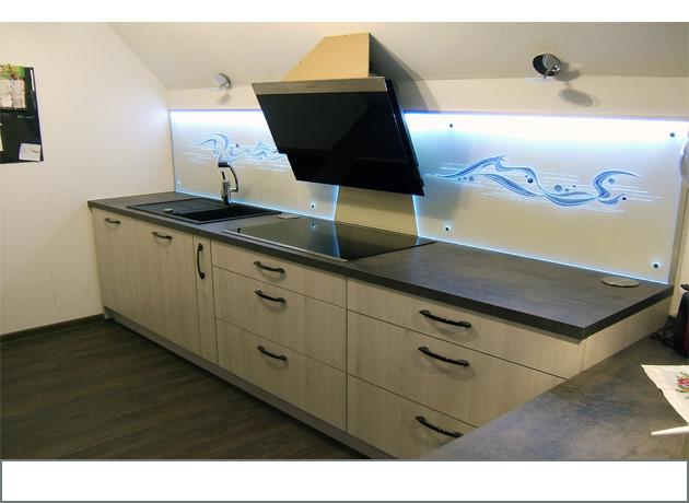 Küchenrückwände aus Glas mit LED`S Produkte aus Thüringen ...